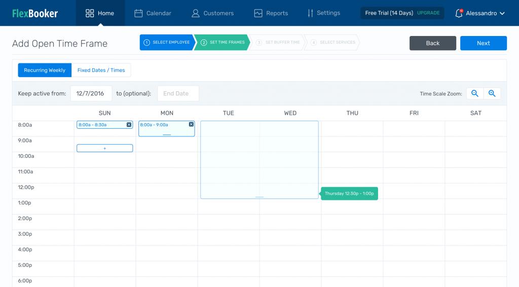 flexbooker online appointment scheduling calendar